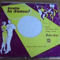 Discos de vinilo: TOUTE LA DANSE! - TITO FUGGI - DISQUE MICROSILLON 33 T/M LONGUE DURÉE - AÑO 1962. Lote 219114378