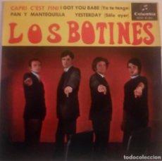 Discos de vinilo: LOS BOTINES...CAPRI C'EST FINI.(COLUMBIA 1965) SPAIN. Lote 219130155