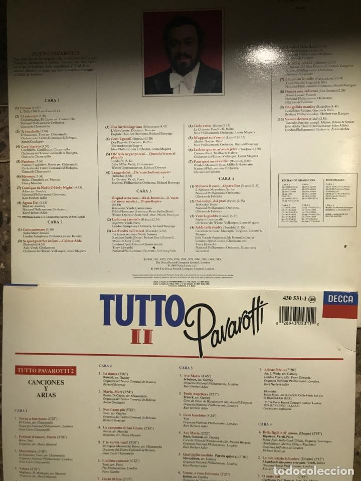 Discos de vinilo: Lote 2 Vinilo Pavarotti - Foto 3 - 214867107
