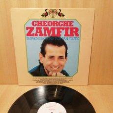 Discos de vinilo: GHEORGHE ZAMFIR. IMPROVISATIONS FOR PAN FLUTE. MARCEL CELLIER. MÚSICA RUMANÍA.. Lote 219145381