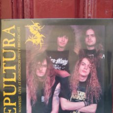 Discos de vinilo: SEPULTURA -CASTLE MANIFEST - LIVE AT DONINGTON 1994 TV BROADCAST . LP VINILO-NUEVO PRECINTADO-. Lote 289442803