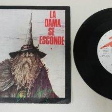Disques de vinyle: 0920- LA DAMA SE ESCONDE EL GRIS - VIN 7 SINGLE P VG DIS VG+. Lote 219156321
