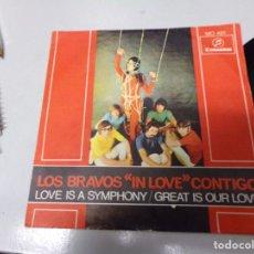 Discos de vinilo: LOS BRAVOS IN LOVE CONTIGO. Lote 219167812