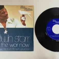 Disques de vinyle: 0920- EDWIN STARR STOP THE WAR NOW - VIN 7 SINGLE P G+ DIS VG+. Lote 219172455