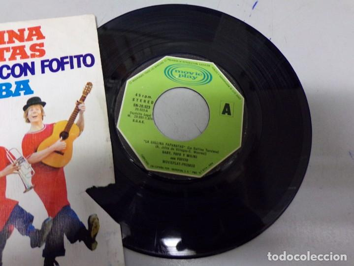 Discos de vinilo: la gallina papanatas - mi barba - gaby , fofo y miliki con fofito - Foto 2 - 219177007