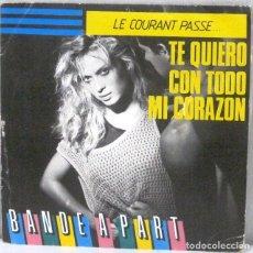 Discos de vinilo: BANDE A PART - LE COURANT PASSE - SINGLE. Lote 219177538