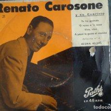 Discos de vinilo: RENATO CAROSONE. PATHÉ.. Lote 219179773