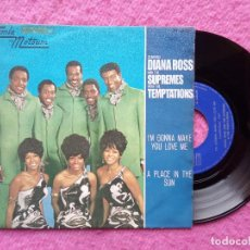 Discos de vinilo: SINGLE DIANA ROSS / SUPREMES / TEMPTATIONS - I'M GONNA MAKE YOU LOVE - SPAIN PRESS (EX/NM). Lote 219179957