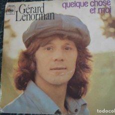 Discos de vinilo: GERARD LENORMAN. CBS. SALDATS NE TIREZ PAS Y QUELQUE CHOSE ET MOI. Lote 219191337