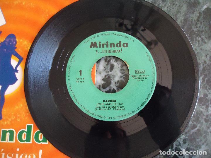 Discos de vinilo: Disco Mirinda nº 1 Karina Romeo y Julieta y que mas te da - Foto 2 - 219191882