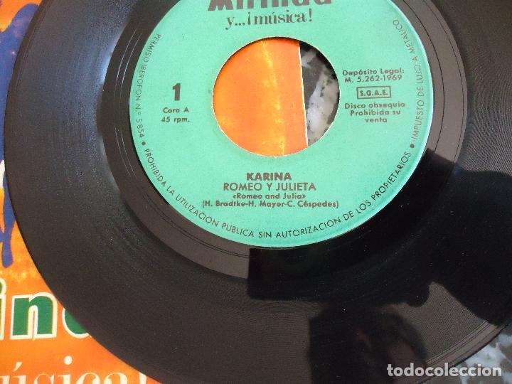 Discos de vinilo: Disco Mirinda nº 1 Karina Romeo y Julieta y que mas te da - Foto 3 - 219191882