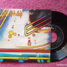 Discos de vinilo: SINGLE DEF LEPPARD - LOVE BITES / I WANNA BE YOUR HERO - 870 276-7 - SPAIN PRESS (EX-/NM). Lote 219193078