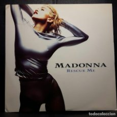 Discos de vinilo: MADONNA - RESCUE ME - MAXISINGLE - REINO UNIDO - RARO - IMMACULATE COLLECTION - NO USO CORREOS. Lote 219196158
