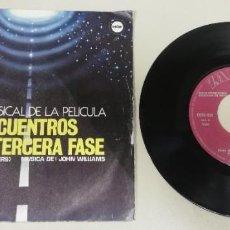 Discos de vinil: 0920- BSO ENCUENTROS EN LA TERCERA FASE - VIN 7 SINGLE P G DIS VG. Lote 219198443