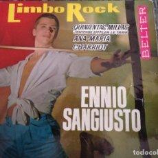 Discos de vinilo: ENNIO SANGIUSTO/ LIMBOROCK/ QUINIENTAS MILLAS/ ANA MARIA/ CHARRIOT. Lote 219207152