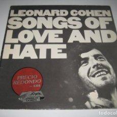 Disques de vinyle: LEONARD COHEN - SONGS OF LOVE AND HATE LP. Lote 219208185