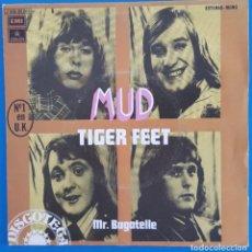 Discos de vinilo: SINGLE / MUD, TIGER FEET, ODEON ?– 1 J 006-95.062, 1974. Lote 219209122