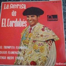 Discos de vinilo: LA SONRISA DE EL CORDOBÉS/ ARTURO FORNES CON SU ORQUESTA.. Lote 219209827