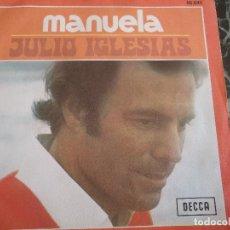 Discos de vinilo: JULIO IGLESIAS/ MANUELA/ DICEN. Lote 219210087