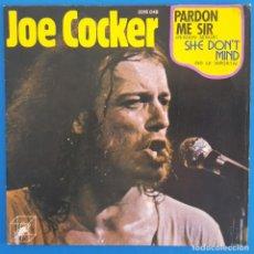 Discos de vinilo: SINGLE / JOE COCKER, PARDON ME SIR, CUBE RECORDS – 2016 048, 1973. Lote 219210791
