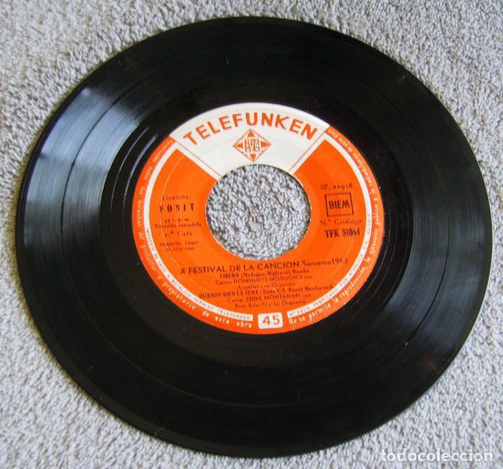 Discos de vinilo: X FESTIVAL DE LA CANCION SAN REMO 1960 - EP - LIBERO + 3 - Foto 2 - 219229005