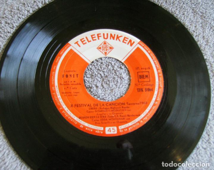 Discos de vinilo: X FESTIVAL DE LA CANCION SAN REMO 1960 - EP - LIBERO + 3 - Foto 3 - 219229005