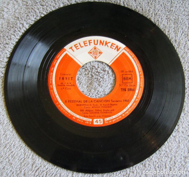 Discos de vinilo: X FESTIVAL DE LA CANCION SAN REMO 1960 - EP - LIBERO + 3 - Foto 4 - 219229005