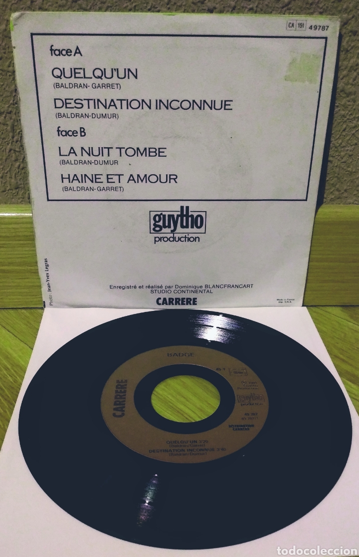 Discos de vinilo: BADGE - QUELQUUN EP Carrere 1981 - Foto 2 - 219236255