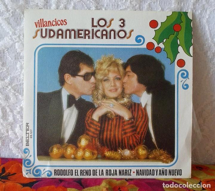 LOS 3 SUDAMERICANOS-VILLANCICOS (Música - Discos de Vinilo - Maxi Singles - Solistas Españoles de los 50 y 60)