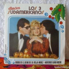 Discos de vinilo: LOS 3 SUDAMERICANOS-VILLANCICOS. Lote 219238892