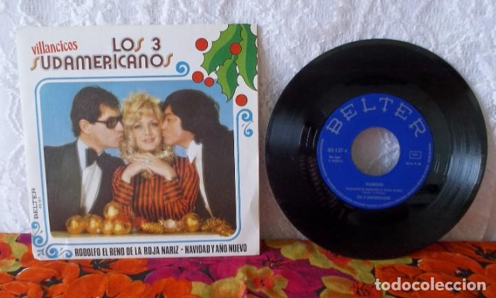 Discos de vinilo: LOS 3 SUDAMERICANOS-VILLANCICOS - Foto 2 - 219238892