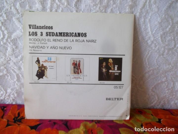 Discos de vinilo: LOS 3 SUDAMERICANOS-VILLANCICOS - Foto 3 - 219238892