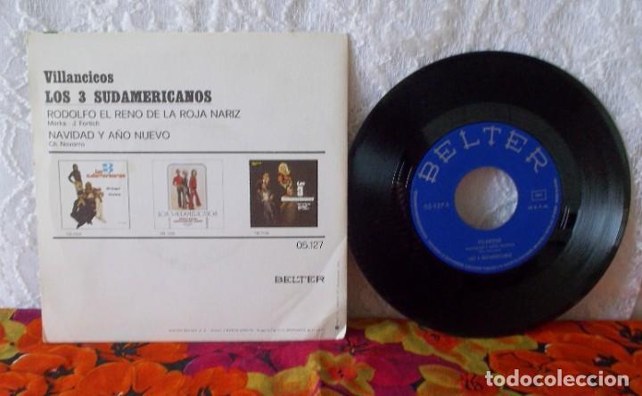 Discos de vinilo: LOS 3 SUDAMERICANOS-VILLANCICOS - Foto 4 - 219238892