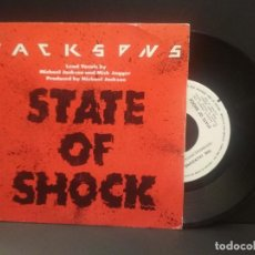 Discos de vinilo: THE JACKSONS STATE OF SHOCK SINGLE SPAIN 1984 PDELUXE. Lote 219240247