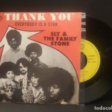 Discos de vinilo: SLY & THE FAMILY STONE THANK YOU SINGLE SPAIN 1970 PDELUXE. Lote 219240453