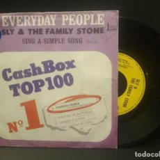 Discos de vinilo: SLY & THE FAMILY STONE EVERYDAY PEOPLE + 1 SINGLE FRANCIA PDELUXE. Lote 219240617