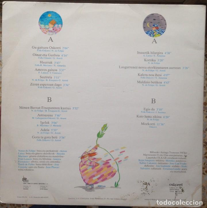 Discos de vinilo: Oskorri - Eta hero hau ! - 2 LP - Elkar 1987 ELK 155-156 - Edición española original. EX - Foto 2 - 219243663
