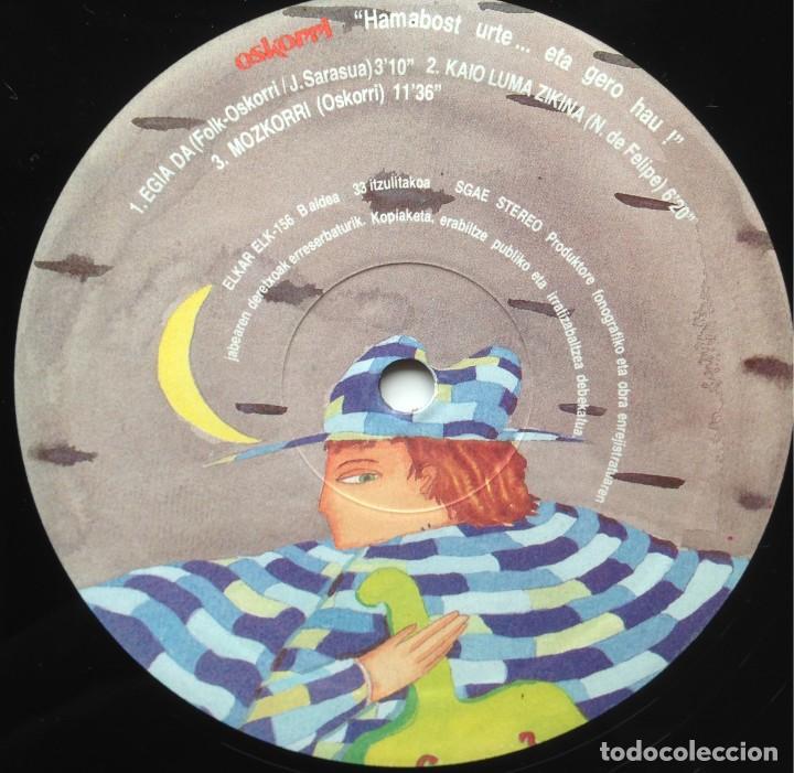 Discos de vinilo: Oskorri - Eta hero hau ! - 2 LP - Elkar 1987 ELK 155-156 - Edición española original. EX - Foto 6 - 219243663