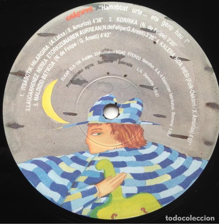 Discos de vinilo: Oskorri - Eta hero hau ! - 2 LP - Elkar 1987 ELK 155-156 - Edición española original. EX - Foto 7 - 219243663