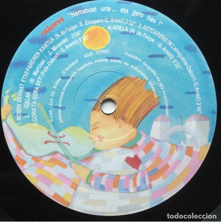 Discos de vinilo: Oskorri - Eta hero hau ! - 2 LP - Elkar 1987 ELK 155-156 - Edición española original. EX - Foto 9 - 219243663