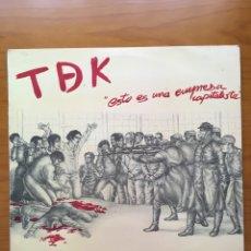 Disques de vinyle: TDEK-ESTO ES UNA EMPRESA CAPITALISTA-1985-TDK-POCO USO-PUNK. Lote 219254703