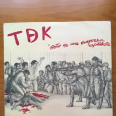 Dischi in vinile: TDEK-ESTO ES UNA EMPRESA CAPITALISTA-1985-TDK-POCO USO-PUNK. Lote 219254703