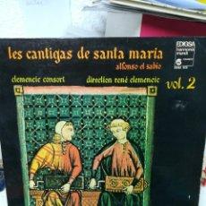 Discos de vinilo: LAS CANTIGAS DE SANTA MARÍA. ALFONSO EL SABIO. VOL. 2. Lote 219256307