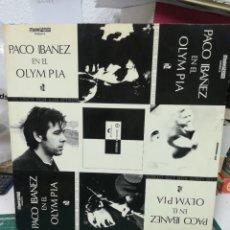Discos de vinilo: PACO IBÁÑEZ EN EL OLIMPIA. Lote 219269840
