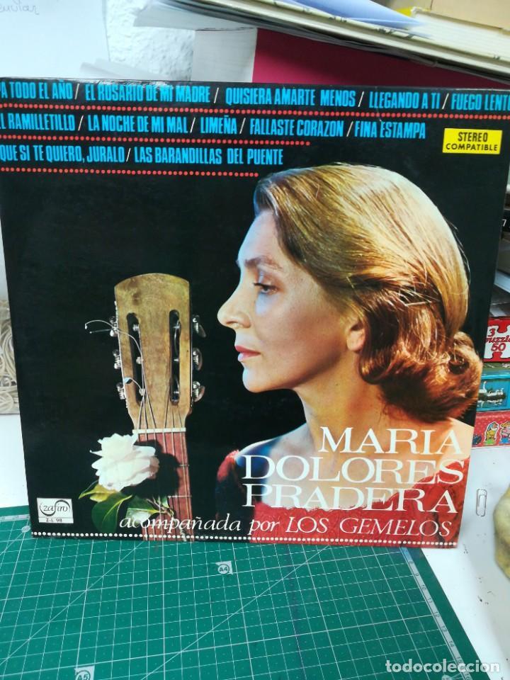 MARIA DOLORES PRADERA ACOMPAÑADA POR LOS GEMELOS (Música - Discos de Vinilo - Maxi Singles - Cantautores Españoles)