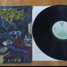 Discos de vinilo: VINILO DEVASTATION - SIGNS OF LIFE. THRASH METAL 1990.. Lote 219280048
