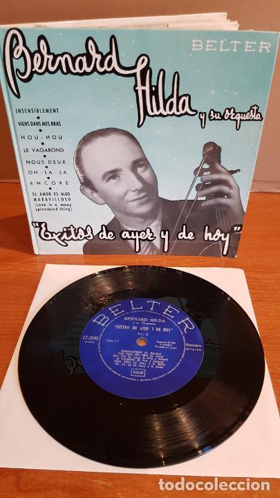 BERNARD HILDA Y SU ORQUESTA / ÉXITOS DE AYER Y DE HOY / DISCO-LIBRO-BELTER / MBC. ***/*** (Música - Discos - Singles Vinilo - Orquestas)