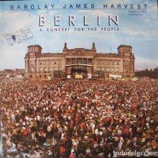 Discos de vinilo: BARCLAY JAMES HARVEST - BERLIN (A CONCERT FOR THE PEOPLE) (LP, ALBUM, CLUB). Lote 219309257