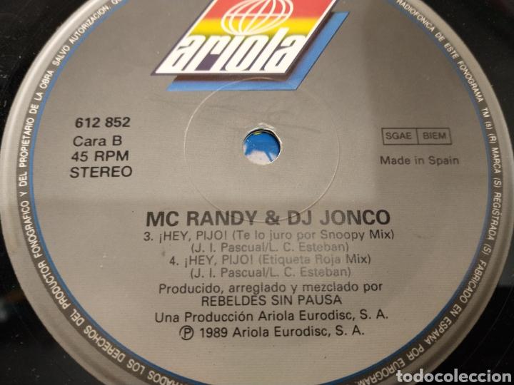 Discos de vinilo: MC Randy dj jonco maxisingle - Foto 2 - 219312313