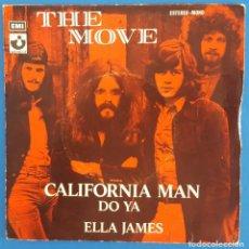 Discos de vinilo: SINGLE / THE MOVE, CALIFORNIA MAN, HARVEST ?– 1 J 006-05.045, 1972. Lote 219314513